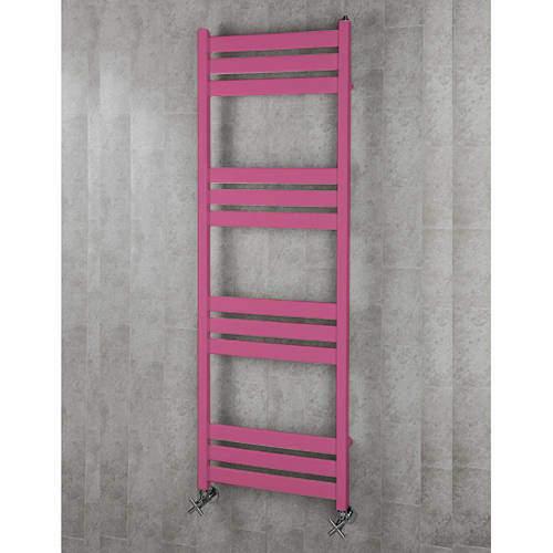 COLOUR Heated Towel Rail & Wall Brackets 1500x500 (Heather Violet).