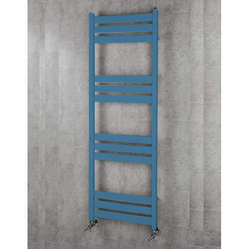 COLOUR Heated Towel Rail & Wall Brackets 1500x500 (Pastel Blue).