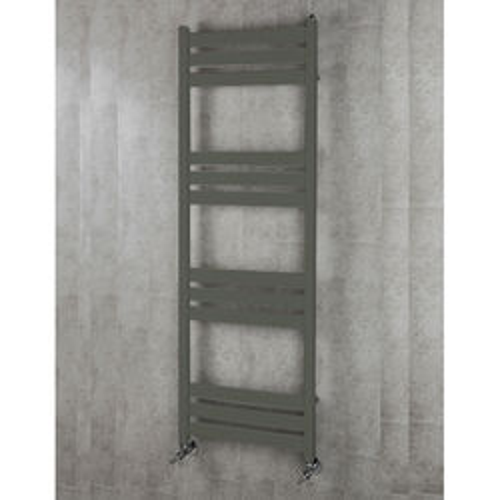 COLOUR Heated Towel Rail & Wall Brackets 1500x500 (Grey Olive).