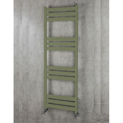 COLOUR Heated Towel Rail & Wall Brackets 1500x500 (Reed Green).