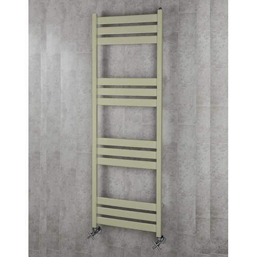 COLOUR Heated Towel Rail & Wall Brackets 1500x500 (Pebble Grey).