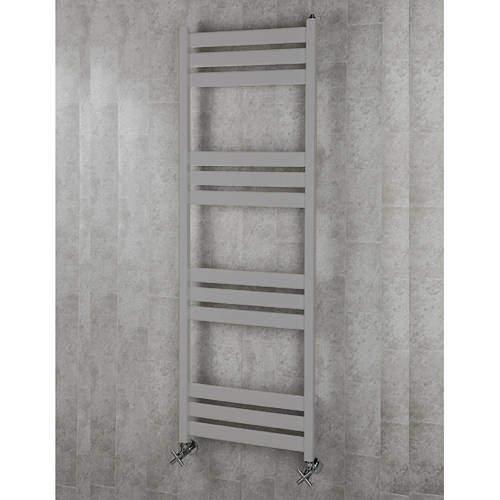 COLOUR Heated Towel Rail & Wall Brackets 1500x500 (White Alumin).