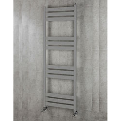 COLOUR Heated Towel Rail & Wall Brackets 1500x500 (Grey Aluminium).