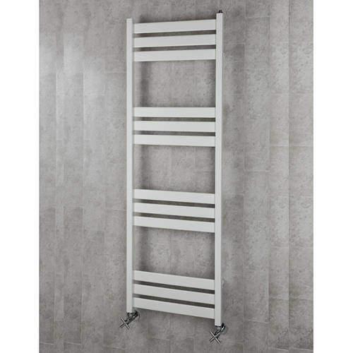 COLOUR Heated Towel Rail & Wall Brackets 1500x500 (White).