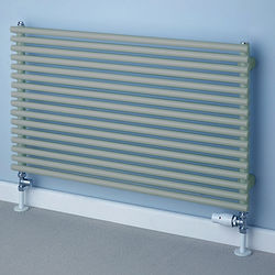 COLOUR Chaucer Single Horizontal Radiator 402x1220mm (Traffic Grey).