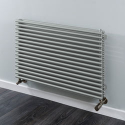COLOUR Chaucer Double Horizontal Radiator 402x1520mm (Traffic Grey).