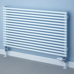 COLOUR Chaucer Single Horizontal Radiator 402x920mm (White).