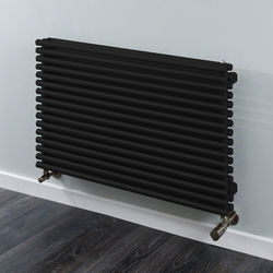 COLOUR Chaucer Double Horizontal Radiator 538x920mm (Jet Black).