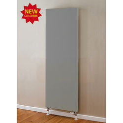 COLOUR Faraday Vertical Radiator 1600x500mm (P+, Window Grey, 5684 BTUs).