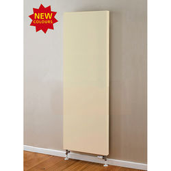 COLOUR Faraday Vertical Radiator 1800x500mm (P+, Light Ivory, 6398 BTUs).