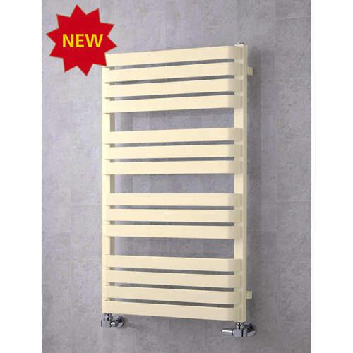 COLOUR Heated Towel Rail & Wall Brackets 1110x500 (Oyster White).