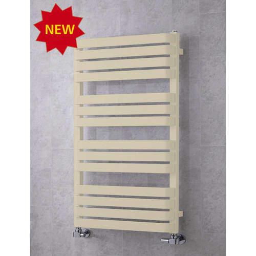 COLOUR Heated Towel Rail & Wall Brackets 1110x500 (Light Ivory).