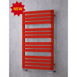 COLOUR Heated Towel Rail & Wall Brackets 1110x500 (Flame Red).