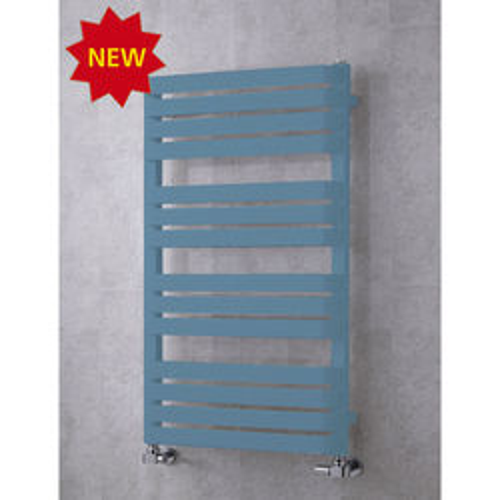 COLOUR Heated Towel Rail & Wall Brackets 1110x500 (Pastel Blue).