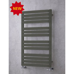 COLOUR Heated Towel Rail & Wall Brackets 1110x500 (Grey Olive).