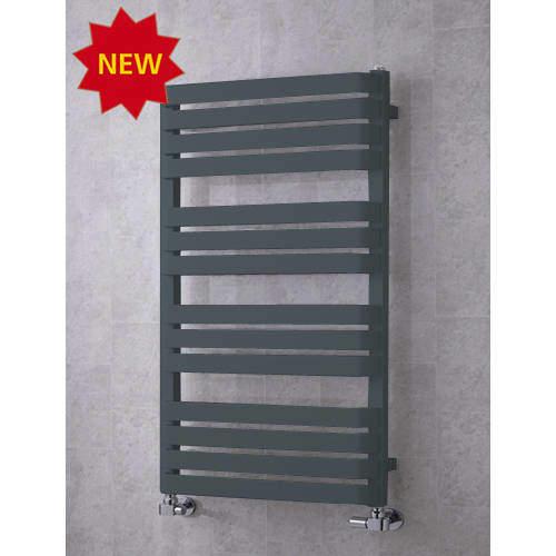 COLOUR Heated Towel Rail & Wall Brackets 1110x500 (Anthracite Grey).