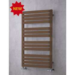 COLOUR Heated Towel Rail & Wall Brackets 1110x500 (Pale Brown).