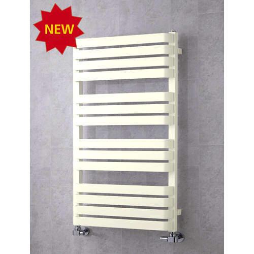 COLOUR Heated Towel Rail & Wall Brackets 1110x500 (Cream).
