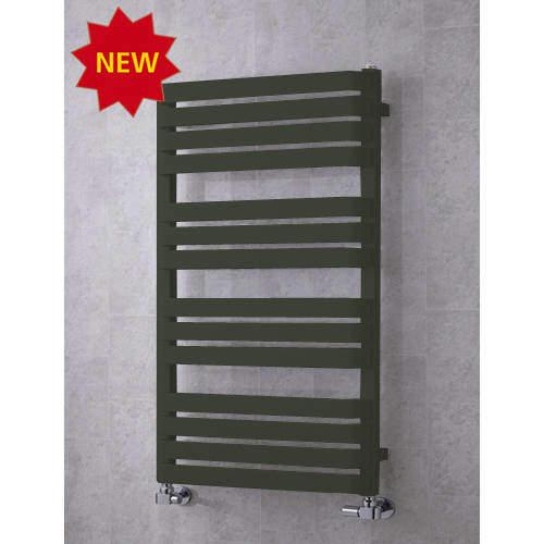 COLOUR Heated Towel Rail & Wall Brackets 1110x500 (Signal Black).