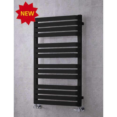 COLOUR Heated Towel Rail & Wall Brackets 1110x500 (Jet Black).