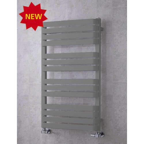 COLOUR Heated Towel Rail & Wall Brackets 1110x500 (Grey Aluminium).
