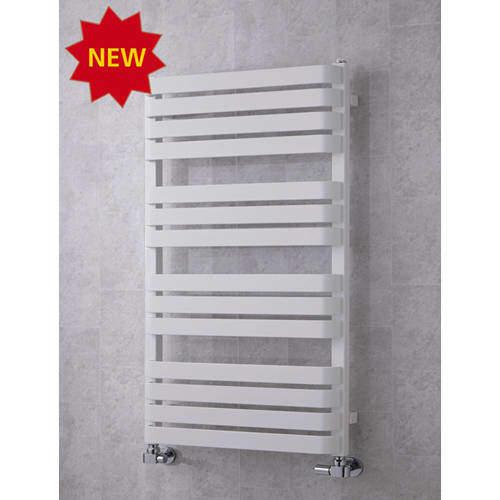 COLOUR Heated Towel Rail & Wall Brackets 1110x500 (White).