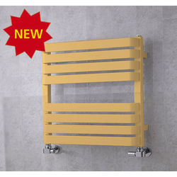 COLOUR Heated Towel Rail & Wall Brackets 655x500 (Beige).
