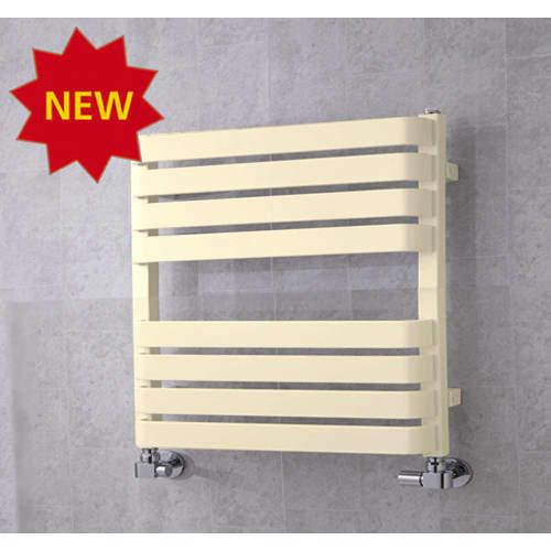 COLOUR Heated Towel Rail & Wall Brackets 655x500 (Oyster White).