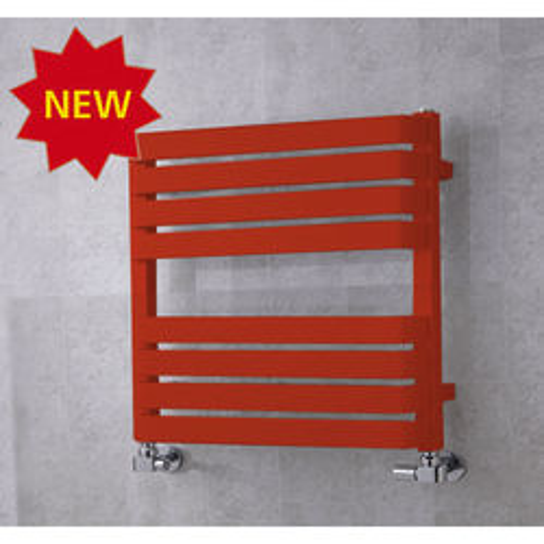 COLOUR Heated Towel Rail & Wall Brackets 655x500 (Flame Red).
