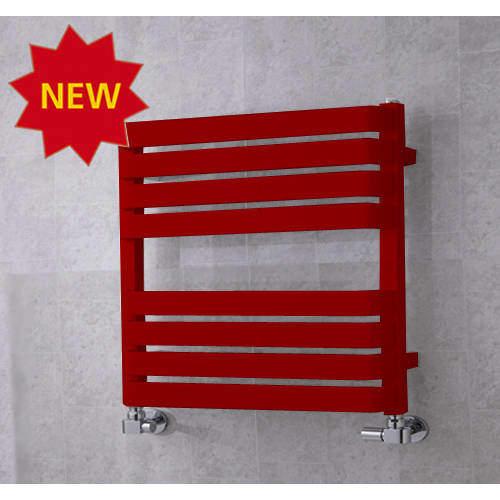 COLOUR Heated Towel Rail & Wall Brackets 655x500 (Ruby Red).