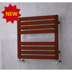 COLOUR Heated Towel Rail & Wall Brackets 655x500 (Purple Red).