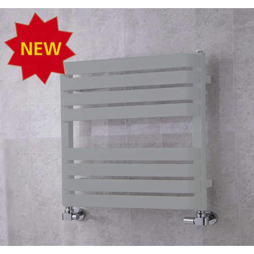 COLOUR Heated Towel Rail & Wall Brackets 655x500 (Window Grey).