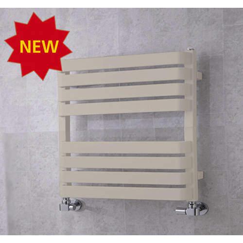 COLOUR Heated Towel Rail & Wall Brackets 655x500 (Silk Grey).