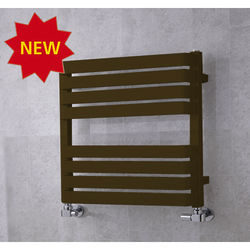 COLOUR Heated Towel Rail & Wall Brackets 655x500 (Nut Brown).