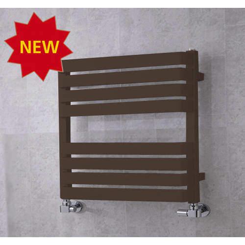 COLOUR Heated Towel Rail & Wall Brackets 655x500 (Pale Brown).