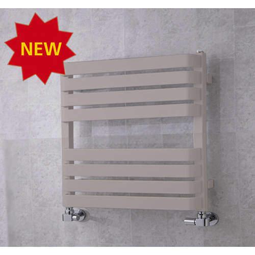 COLOUR Heated Towel Rail & Wall Brackets 655x500 (White Aluminium).