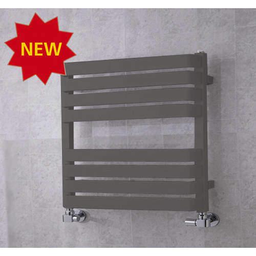 COLOUR Heated Towel Rail & Wall Brackets 655x500 (Grey Aluminium).