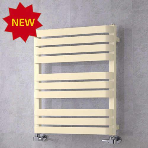 COLOUR Heated Towel Rail & Wall Brackets 785x500 (Oyster White).