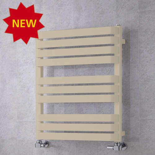COLOUR Heated Towel Rail & Wall Brackets 785x500 (Light Ivory).