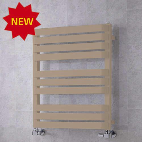 COLOUR Heated Towel Rail & Wall Brackets 785x500 (Grey Beige).