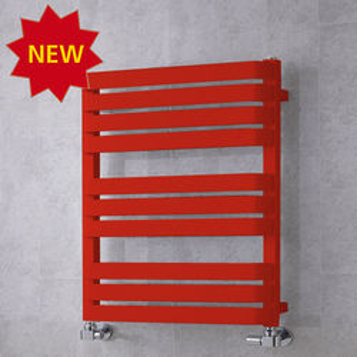 COLOUR Heated Towel Rail & Wall Brackets 785x500 (Flame Red).