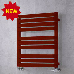 COLOUR Heated Towel Rail & Wall Brackets 785x500 (Purple Red).