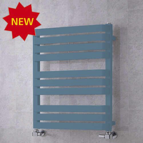 COLOUR Heated Towel Rail & Wall Brackets 785x500 (Pastel Blue).