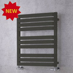 COLOUR Heated Towel Rail & Wall Brackets 785x500 (Grey Olive).