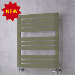 COLOUR Heated Towel Rail & Wall Brackets 785x500 (Reed Green).