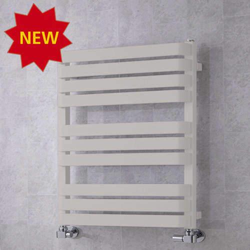 COLOUR Heated Towel Rail & Wall Brackets 785x500 (Light Grey).