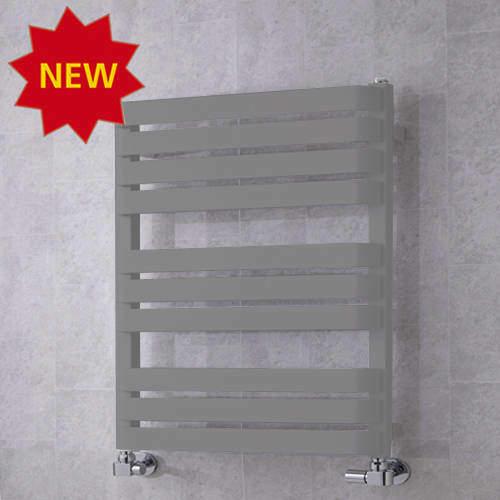 COLOUR Heated Towel Rail & Wall Brackets 785x500 (Window Grey).