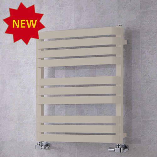 COLOUR Heated Towel Rail & Wall Brackets 785x500 (Silk Grey).