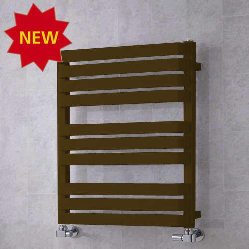 COLOUR Heated Towel Rail & Wall Brackets 785x500 (Nut Brown).