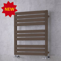 COLOUR Heated Towel Rail & Wall Brackets 785x500 (Pale Brown).